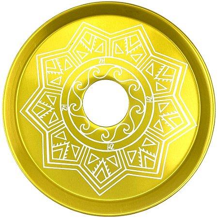 Prato ZH Tribal Médio 19cm - Dourado