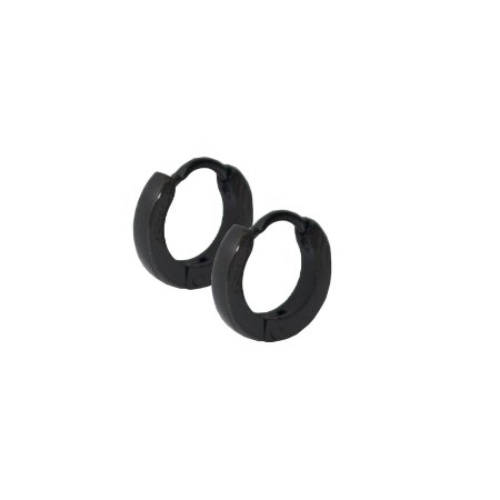 Brinco Masculino Argola Fina 2mm de Espessura - Mini - PAR