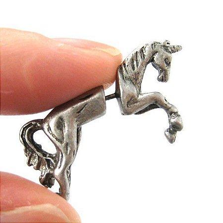 Brinco Masculino Cavalo Unicórnio - PAR