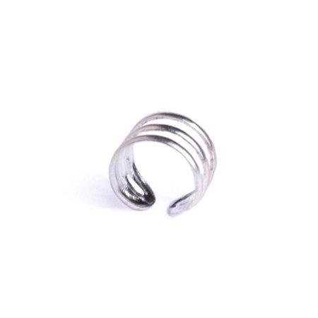 Piercing Encaixe Masculino de Prata 925 Argola  Miró - 1 Peça (Não é o par)
