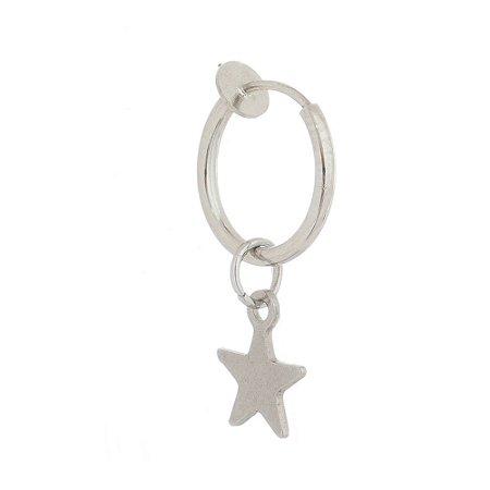 Piercing / Brinco Masculino de Pressão Estrela - 1 PEÇA (Não é o par)