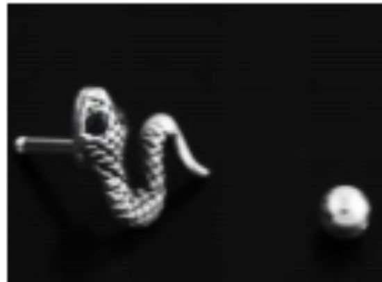 Piercing Hélix Cartilagem Orelha Cobra