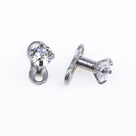 meilleure sélection de 2019 marque célèbre acheter bien Piercing Microdermal Diamond - 1 Peça