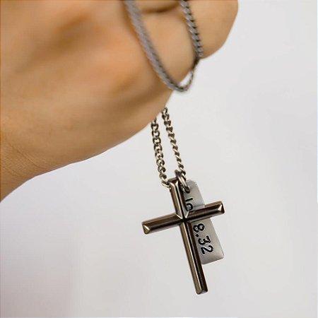 Colar Cruz Versículos