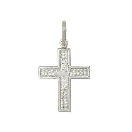 Pingente de Prata 925 Masculino Crucifixo Cristo