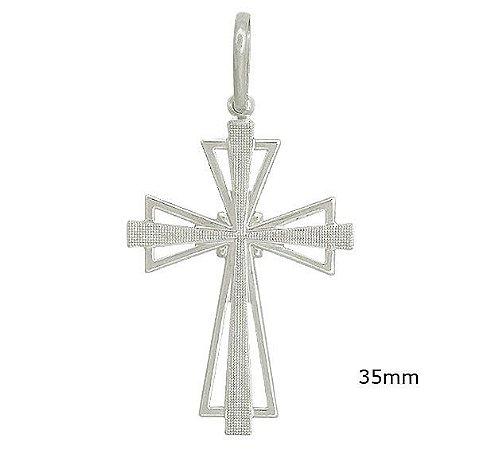 Pingente de Prata Cruz Vaticano 925