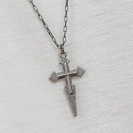 Colar Masculino Corrente e Crucifixo