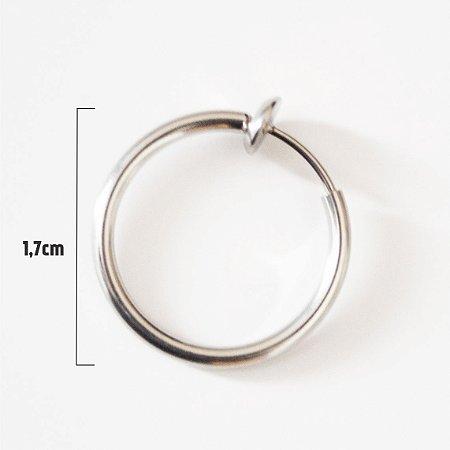 Brinco Piercing de Argola Grande De Pressão - 1 Peça (Não é o par)