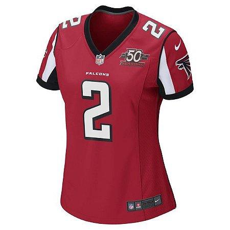 6275cee4cfe1d Camisa Feminina NFL Atlanta Falcons Futebol Americano  2 Ryan ...