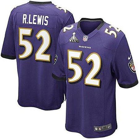 a7f9cba54 Camisa NFL Baltimore Ravens Futebol Americano  52 R.Lewis - Sport ...