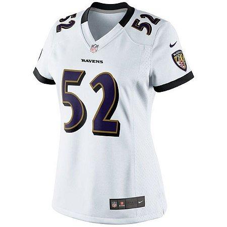 9a2749e0f Camisa Feminina NFL Baltimore Ravens Futebol Americano  52 R.Lewis ...