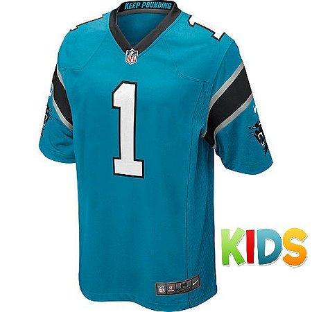 966a49530 Camisa Infantil NFL Carolina Panthers Futebol Americano  1 Newton