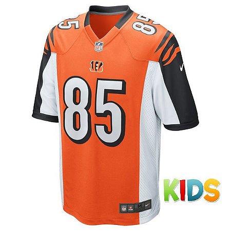 a23203f2efa78 Camisa Infantil NFL Cincinnati Bengals Futebol Americano  85 Eifert