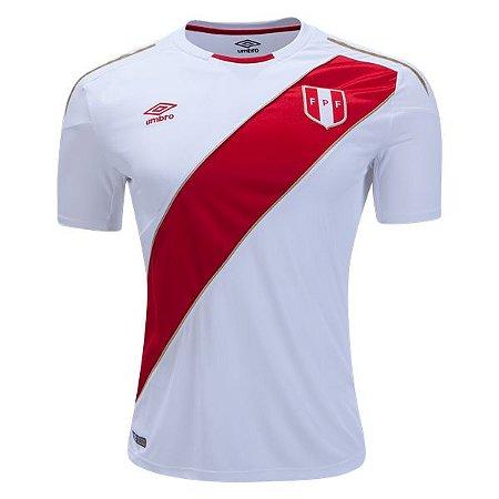 Camisa Seleção do Peru Home Copa do Mundo 2018 - Personalização e Frete  Grátis 3b8725c8e1236