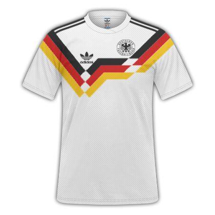 131afcd5aa11f Camisa Seleção Alemanha Copa de 1990 RETRO - Personalização E Frete Grátis