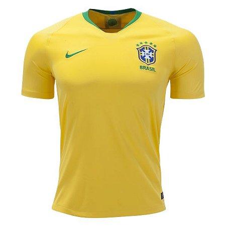 Camisa Seleção do Brasil Home Copa do Mundo 2018 - Personalização e Frete  Grátis 85d2c89e64ccb