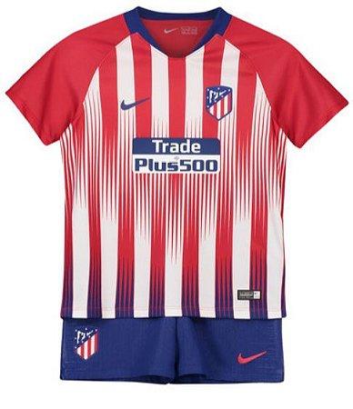 3d366010dd Kit Infantil Atlético de Madrid Home 2018 2019 - PERSONALIZAÇÃO E FRETE  GRÁTIS