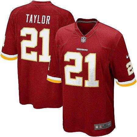 a6c2ea09ba Camisa Nfl Futebol Americano Washington Redskins  21 Taylor - Sport ...