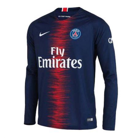 7e03120b8 Camisa Paris Saint Germain PSG Manga Longa Home 18 19 - Personalização e  Frete Grátis