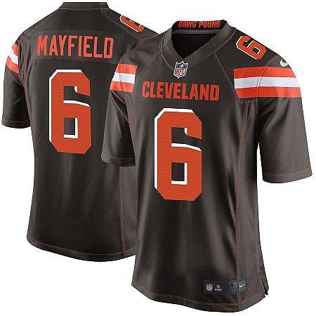Camisa Cleveland Browns Nfl Futebol Americano  6 Mayfield - Sport ... 7d79a3295095b