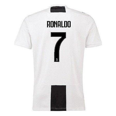 dbaace52efefc Camisa Juventus Home 2018 2019 Cristiano Ronaldo CR7 Frete Grátis ...