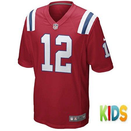 Camisa Nfl Futebol Americano New England Patriots  12 Brady - Sport ... 9d36a6ca2233e