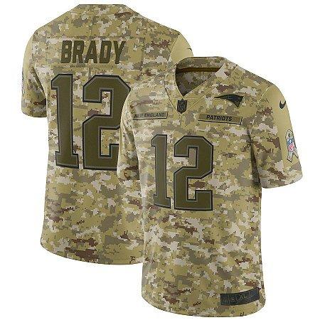 Camisa Nfl Futebol Americano New England Patriots Salute To Service ... c7fc288f219db