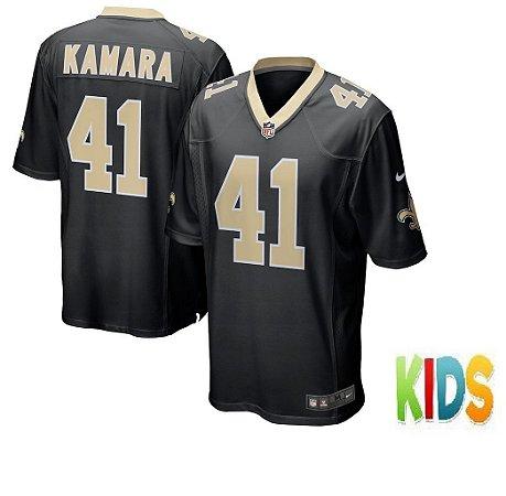 Camisa Infantil Nfl Futebol Americano New Orleans Saints  41 Kamara ... d6966f42c9d