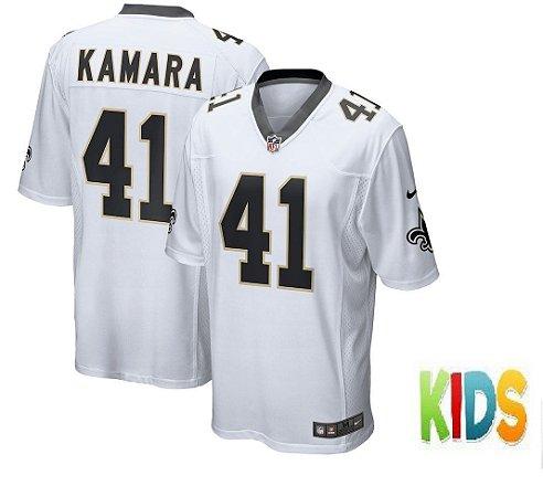 6dd29a1aa Camisa Infantil Nfl Futebol Americano New Orleans Saints  41 Kamara ...