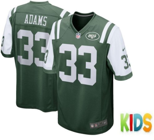 cb89ae671 Camisa Infantil Nfl Futebol Americano New York Jets  33 Adams ...