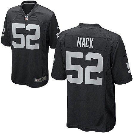 6d433b150 Camisa Nfl Oakland Raiders Futebol Americano  52 Mack - Sport Jersey ...