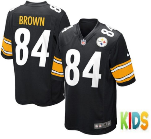 f05d275840 Camisa Infantil Nfl Futebol Americano Pittsburgh Steelers  84 Brown ...