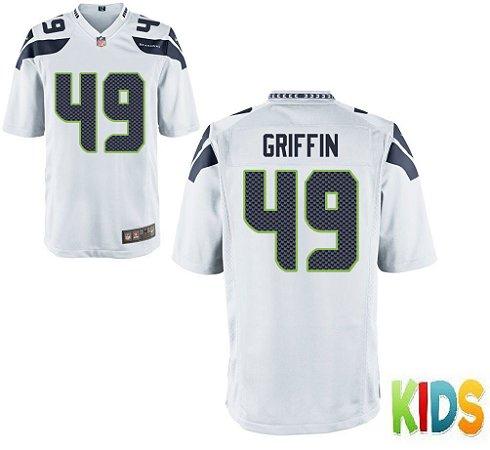 Camisa Infantil Nfl Futebol Americano Seattle Seahawks  49 Griffin ... 26fd041331901