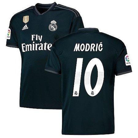 3a03affef728e Camisa Real Madrid Away 2018 2019  10 Modric Frete Grátis - Sport ...