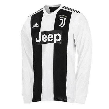 794da034c Camisa Juventus Home 2018 2019 Manga Longa - Personalização e Frete Grátis