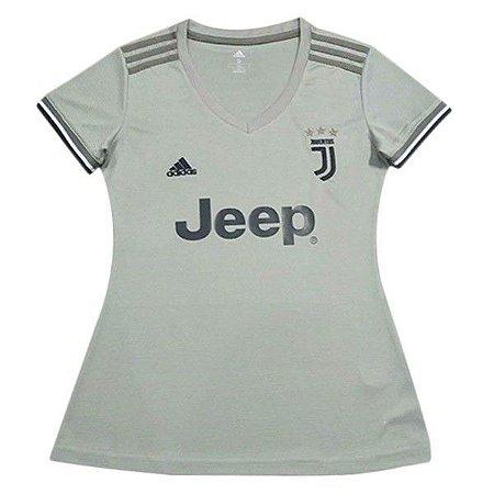 6b03154fe011b Camisa Feminina Juventus Away 2018 2019 Personalização e Frete Grátis