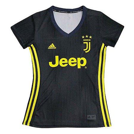 c3b3d0f8edf18 Camisa Feminina Juventus Third 2018 2019 Personalização e Frete Grátis