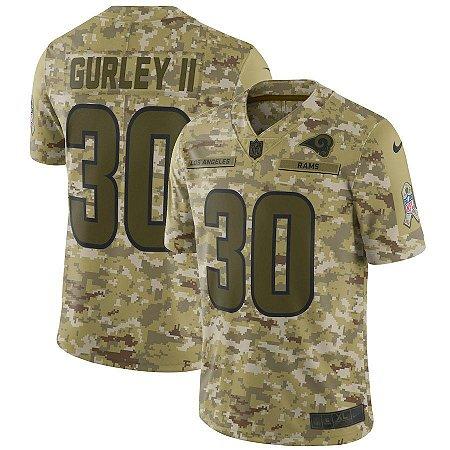 a0b489eb2 Camisa NFL Los Angeles Rams Futebol Americano  30 Todd Gurley II ...