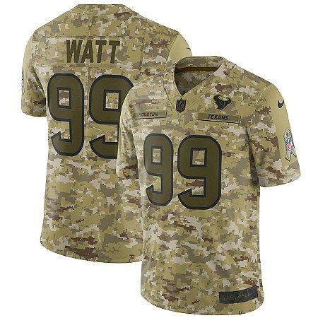 0818f73e5c9ae Camisa NFL Houston Texans Salute to Service Futebol Americano  99 JJ Watt