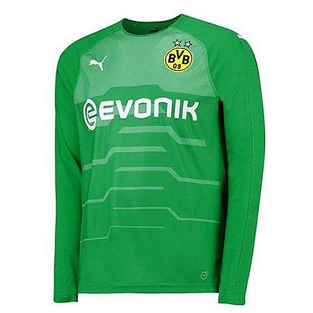 Camisa Borussia Dortmund Manga Longa Goleiro 2018 2019 Personalização e Frete  Grátis ba431d9e995bc