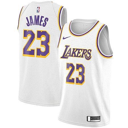 80dc6dbc2 Frete Grátis. Código  M64CSS9FX. Camisa Nba Los Angeles Lakers 18 19  Basquete  23 LeBron James
