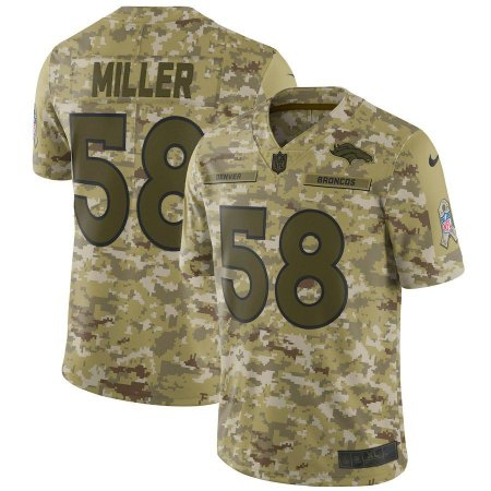 5b78188ba Camisa NFL Denver Broncos Salute To Service Futebol Americano  58 Von Miller