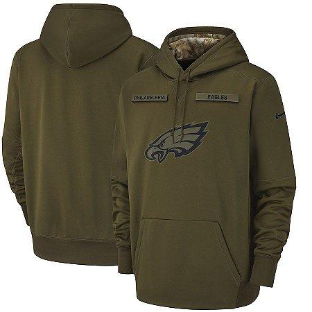 61a3cadef4a2a Casaco Moletom NFL Philadelphia Eagles Salute to Service Futebol Americano