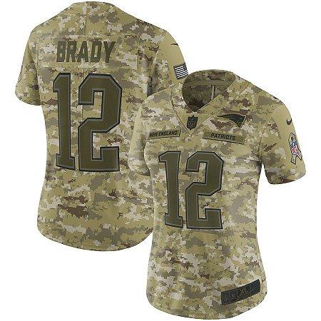 Camisa Feminina New England Patriots Nfl Futebol Americano  12 Tom Brady 7ddd1779c0c92