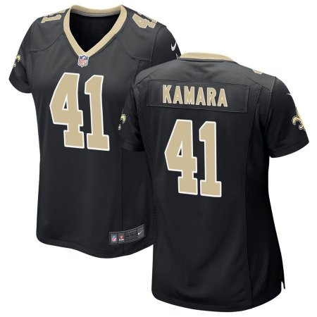 33f5314d5 Camisa Nfl Feminina Futebol Americano New Orleans Saints  41 Kamara ...