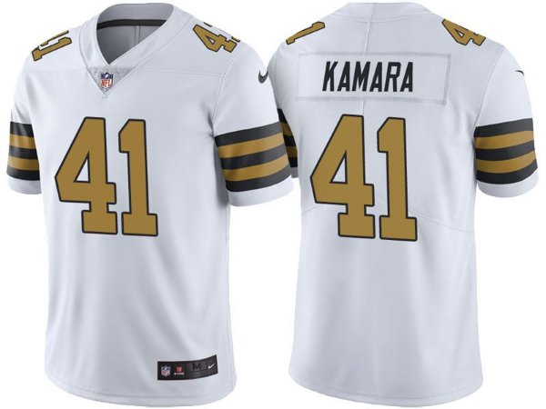 Camisa Nfl Futebol Americano New Orleans Saints Color Rush Limited  41  Kamara d6d3e662695