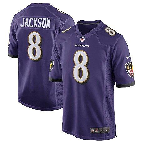 0eb846672 Camisa NFL Baltimore Ravens Futebol Americano  8 Jackson - Sport ...