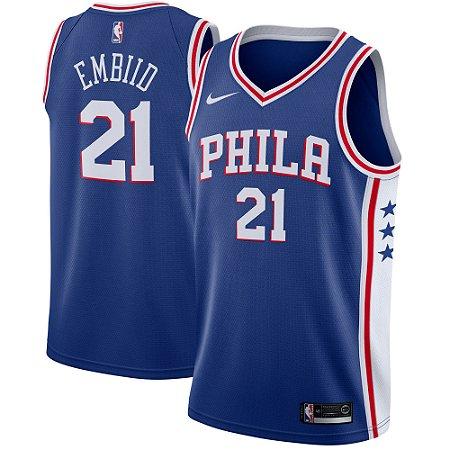 974430766 Camisa Regata Basquete Nba Philadelphia 76ers  21 Embiid - Sport ...