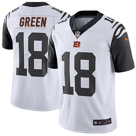 dd66d7bac6868 Camisa NFL Cincinnati Bengals Color Rush Futebol Americano  18 Green ...