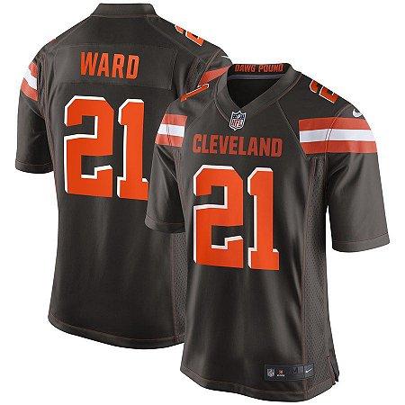Camisa Cleveland Browns Nfl Futebol Americano #21 Denzel Ward